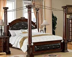 Amazon.com - Mandalay California King Canopy Bed with Tufted ...