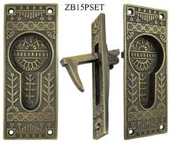 vintage pocket door hardware. Windsor Pattern Single Pocket Door Set (ZB15PSET) Vintage Hardware T