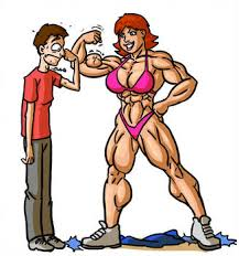 Image result for clipart of aged female body builder