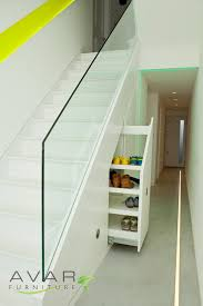 Attractive Stair Shoe Storage Under Stairs Closet Ideas