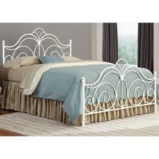 white metal furniture. Rhapsody Iron Bed In Glossy White Metal Furniture A