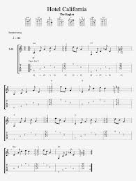Hotel California Strumming Pattern Amazing Guitar Tab Hotel California Intermediate
