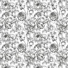 black and white floral wallpaper pattern.  And Black And White Design Wall Art Intended Black And White Floral Wallpaper Pattern T