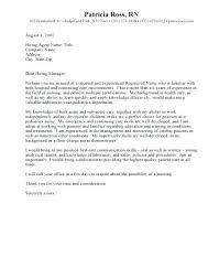 cover letter for rn job sample cover letter for nursing cover letters for nursing resumes