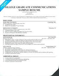 Sample Resumes For Recent College Graduates Best Of Resume Templates For Recent College Graduates Recent College