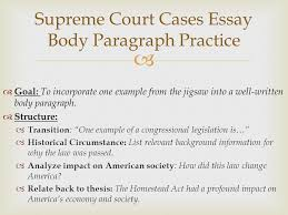 supreme court cases pt   swbat evaluate the ways the  5