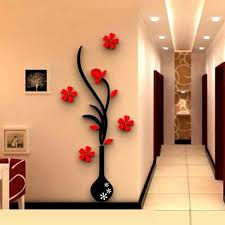 Small Picture 3D Vase Removable Flower Tree Crystal Acrylic wall sticker Home