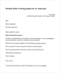 job interview template interview letter templates 7 free word pdf documents download