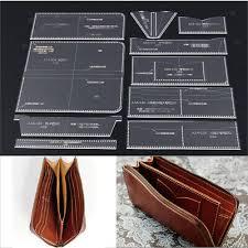 10pcs set acrylic wallet purse pattern