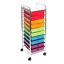 office rolling cart. plain cart 10 drawer craft cart rolling tray organizer tool office storage room  multi color walmart on