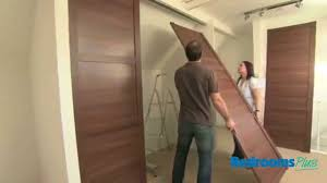 SpacePro Sliding door wardrobes - Install track & doors - YouTube