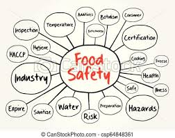 Food Safety Mind Map Flowchart
