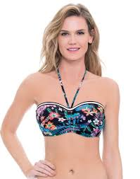 Profile Blush Island Hop F Cup Underwire Bandeau Bikini Top