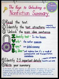 3rd Literary Nonfiction Anchor Chart Bedowntowndaytona Com