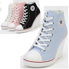 shoes for girls high tops converse. platform wedge heels sneakers ankle boots high top women\u0027s girls lace zip canvas shoes for tops converse l