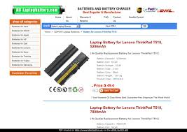 Laptop <b>Battery for Lenovo ThinkPad</b> T510 by hand susan - issuu