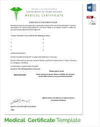 Fake Doctors Note With Stamp Sample Medical Certificate Format Medical Certificate Format Elegant
