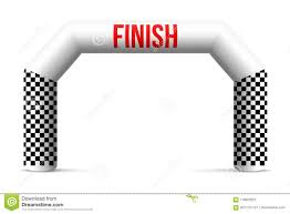 Archway Graphic Designs Creative Illustration Of Finish Line Inflatable Arch