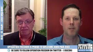 Insider Insight – John Paul Rice – April 2018 – Operation Freedom
