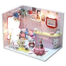 miniature doll furniture. m005 diy cartoondollhouse miniature doll house wooden voice led light roomchina furniture