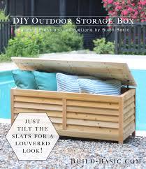 build a diy outdoor storage box building plans by buildbasic build
