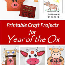 The 2021 cny date falls on february 12, friday, and it's the year of the ox. Printable Year Of The Ox Projects And Crafts For The Chinese New Year Holidappy Celebrations