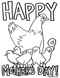 Small Picture 10 FREE Mothers day Coloring Pages Hens Happy mothers and