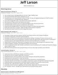 Restaurant Manager Resume Format Free Resume Example And Writing