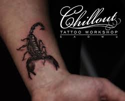 скорпион реализм Chillout Tattoo Workshop
