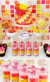 Karas Party Ideas Modern Neon Dessert Table Party Ideas