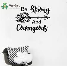 Be Strong And Courageous Quotes Amazing YOYOYU Wall Decal Be Strong And Courageous Quote Joshua Boho Arrow