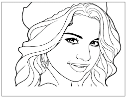 Celebrity Coloring Pages Org For Girls Online Famous