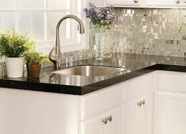 Contemporary Mosaic Tile Kitchen Backsplash
