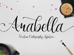arabella modern calligraphy font freebiesbug