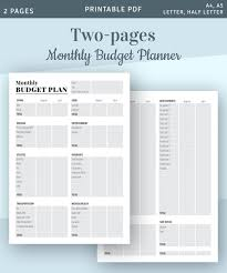 Free Printable Monthly Budget Monthly Budgeting Printable Template Printable Monthly Budget Forms Budget Organizer Instant Download Printable Pdf
