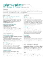 Sophisticated UX Designer Resume Projects And Work Experience Section With  Ux Designer Resume Objective And Ux