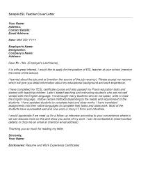 Download Cover Letter Esl Teacher Ajrhinestonejewelry Com