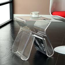 Acrylic Glass Coffee Table Amazoncom Modway Acrylic End Table With Magazine Rack In Clear