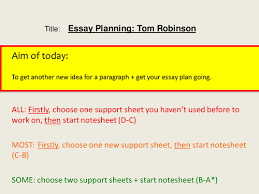 to kill a mockingbird tom robinson essay planning by spanieljfaux to kill a mockingbird tom robinson essay planning by spanieljfaux teaching resources tes