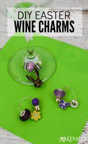 learn how to make easter wine charms as a diy gift for friends and neighbors