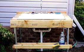 easy to build outdoor garden sink uzwznca