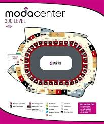Moda Center Map Center Seating View Section Row J Seat 1