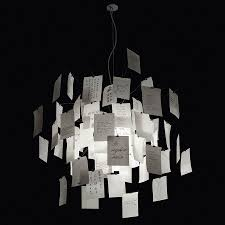 zettel z 5 47 24 in white paper chandelier by ingo maurer