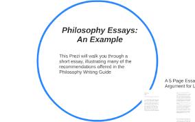 Example Philosophy Essay Philosophy Essay An Example
