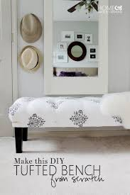 how to make a diy tufted bench from scratch furniture makeover furniture projects diy