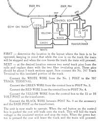 wireing diagram for american flyer steam locomotive 23791 cow on track
