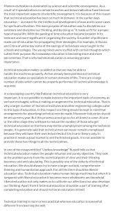 technical education essay essay on technical education scribd