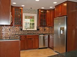 Farmhouse Kitchens Designs Exciting Sectional Tile Backsplash Wooden Cabinets Kitchen Remodel