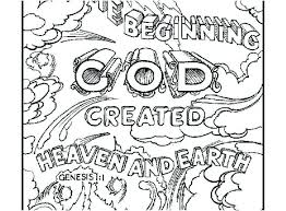 Days Of Creation Coloring Pages Beautiful Free Printable Creation