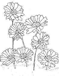 Small Picture Planting Daisy Flower Coloring Page Download Print Online